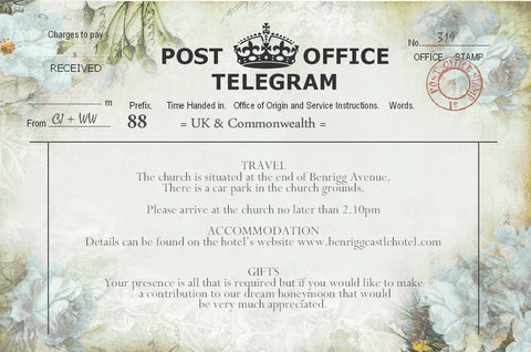 039 Flower Telegram Information Cards