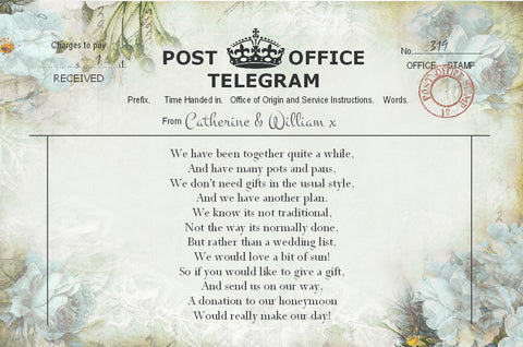 039 Flower Telegram Poem Cards