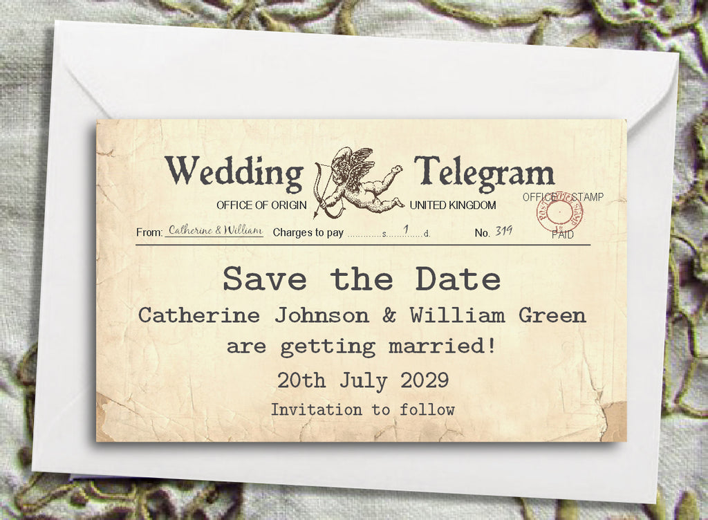 023 Cupid Telegram Save the Date Magnet