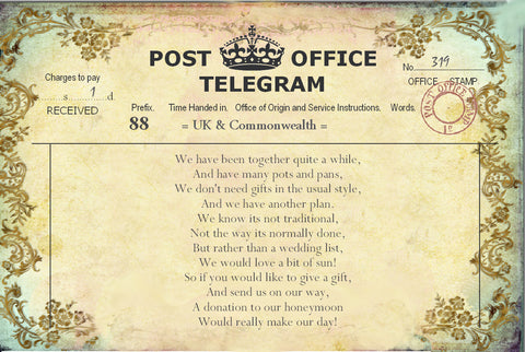 011 Filigree Telegram Poem Cards
