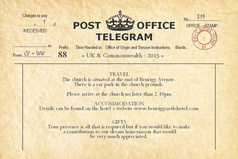 003 PO Telegram Information Cards