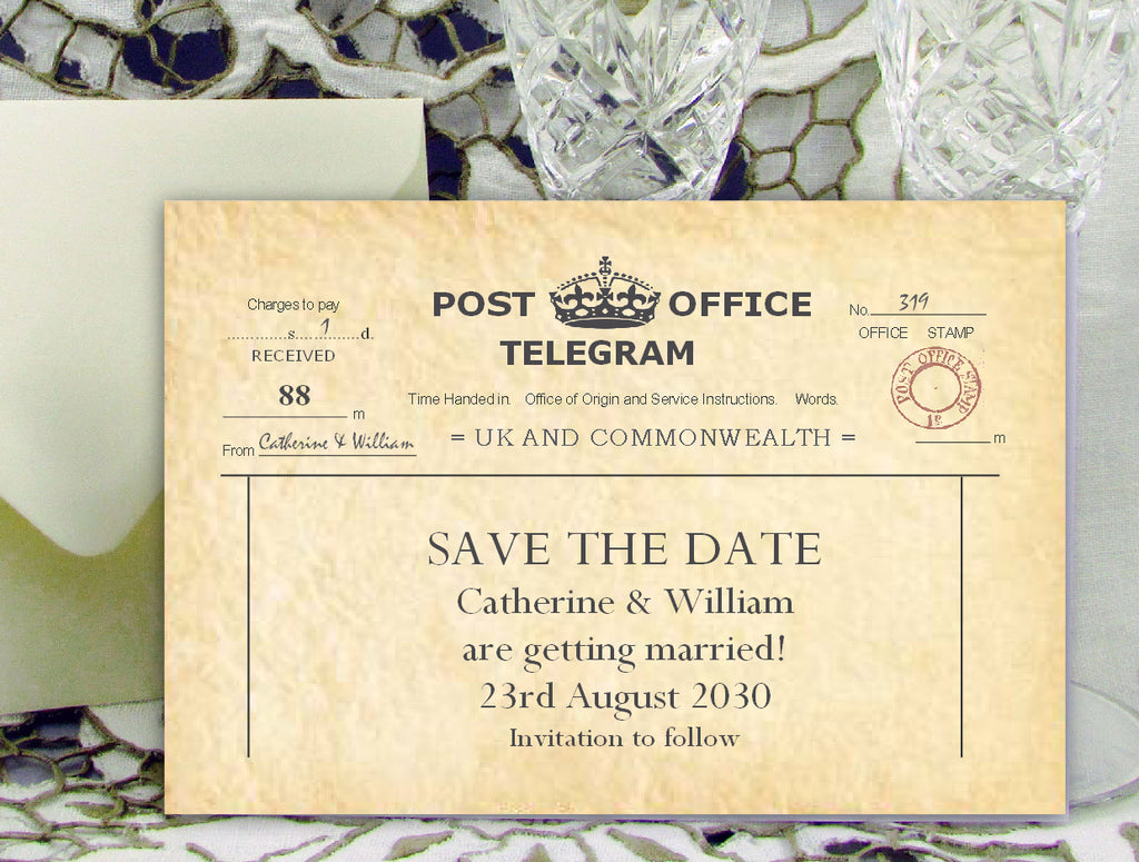 003 PO Telegram Save the Date Card