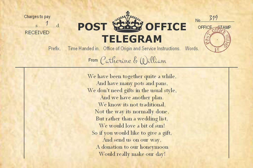 003 PO Telegram Poem Cards