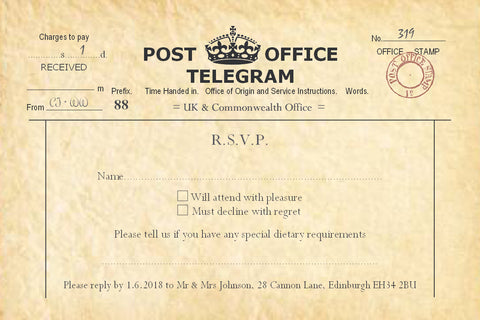 003 PO Telegram R.S.V.P. Cards