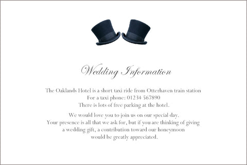 081 Top Hats Information Cards