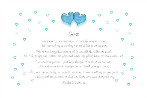 086 Turquoise Hearts Poem Cards