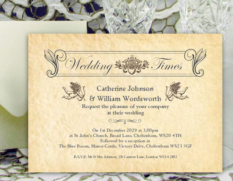 089 Wedding News Wedding Invitations