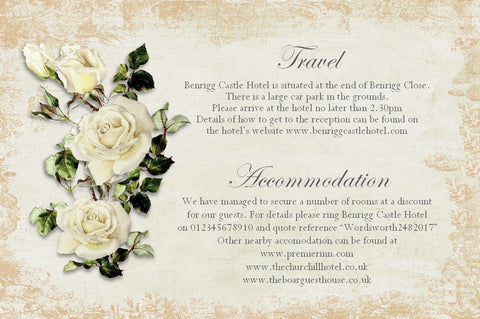068 Rose Shabby Information Cards