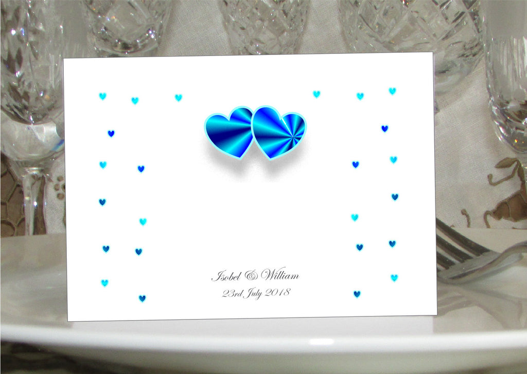 008 Blue Hearts Place Cards