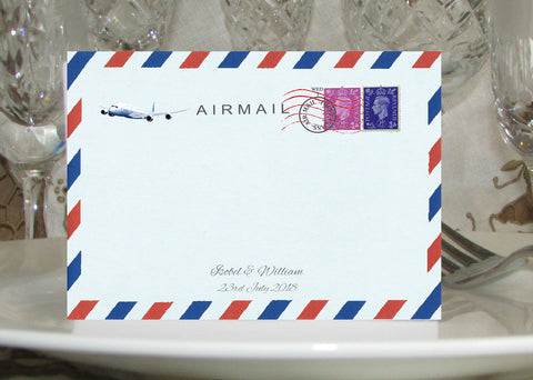 033 Airmail Place Cards