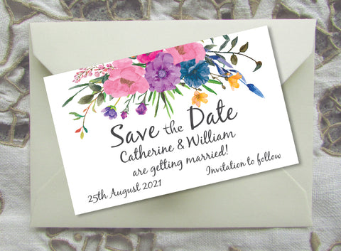 045 Flower Bouquet Save the Date Magnet