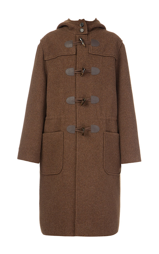 Brown Woolen Duffle Coat