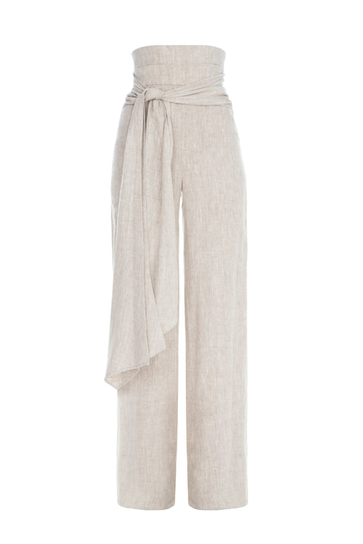 Long Sleeve Linen Pants
