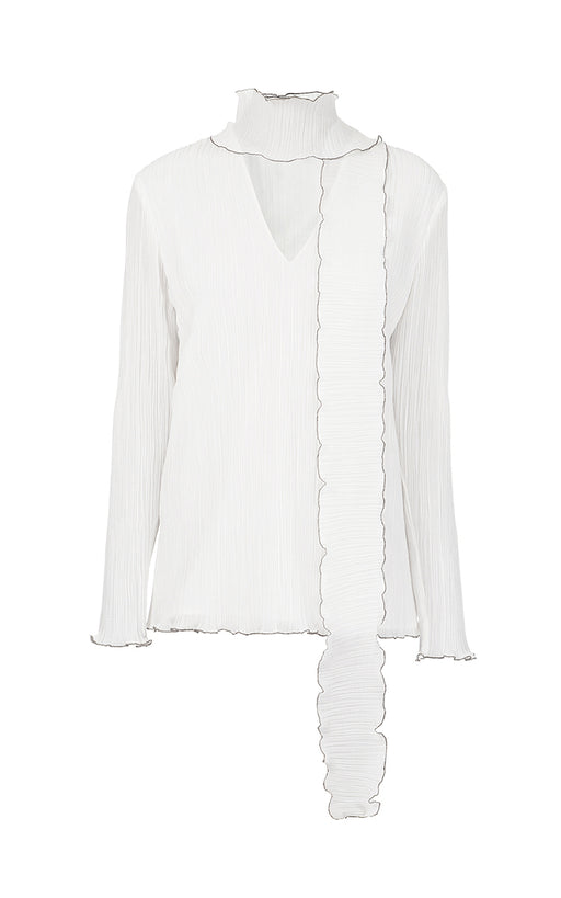 Milk Frilled Blouse