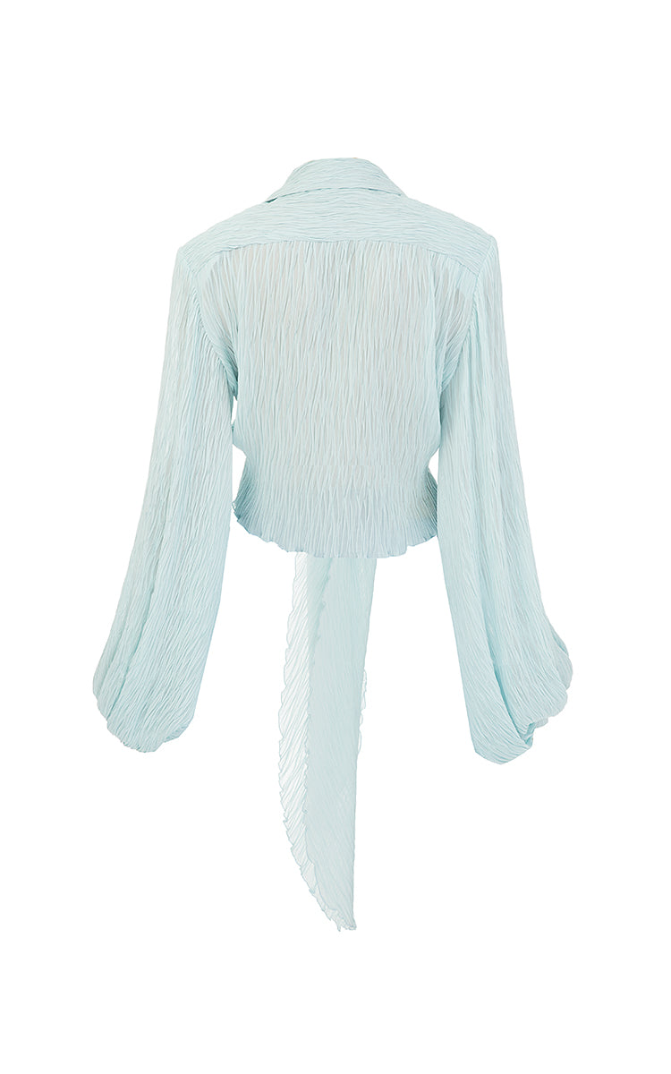 Asymmetric frilled top