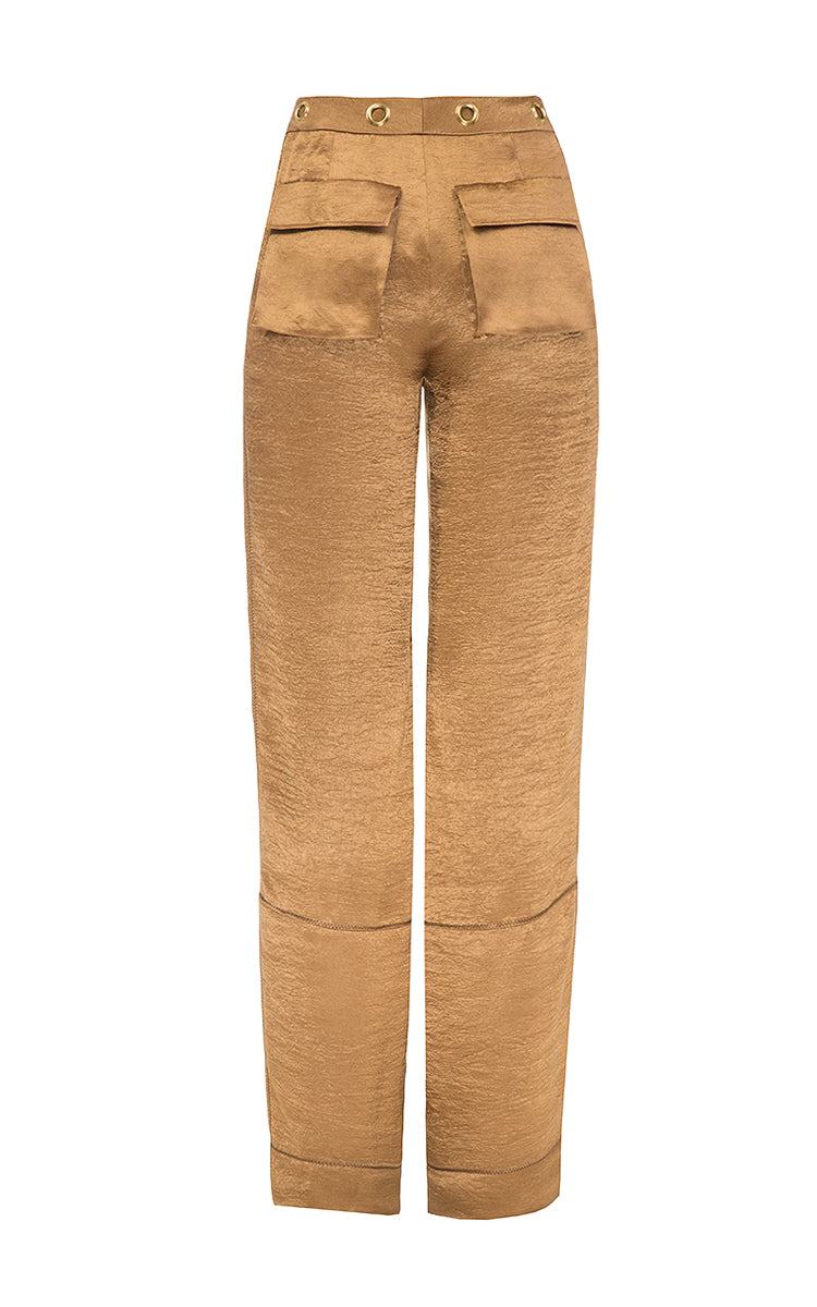 Brown pants with eyelets