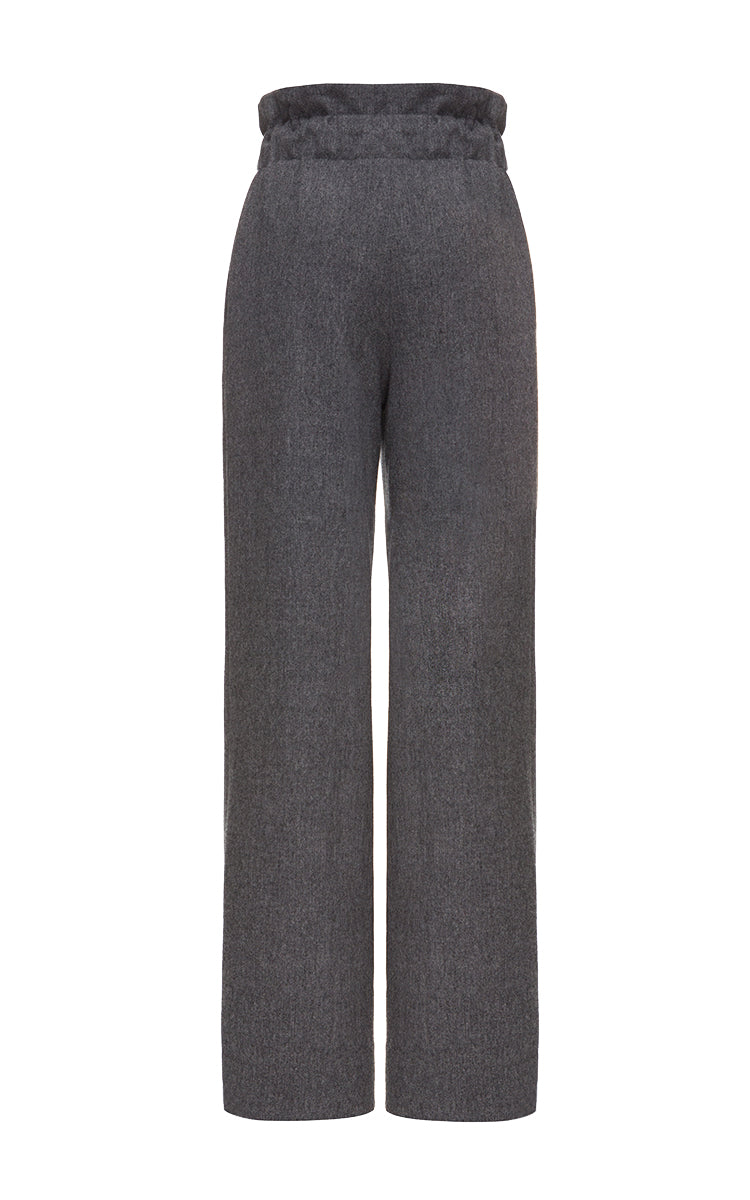 Woolen pants with drawstrings