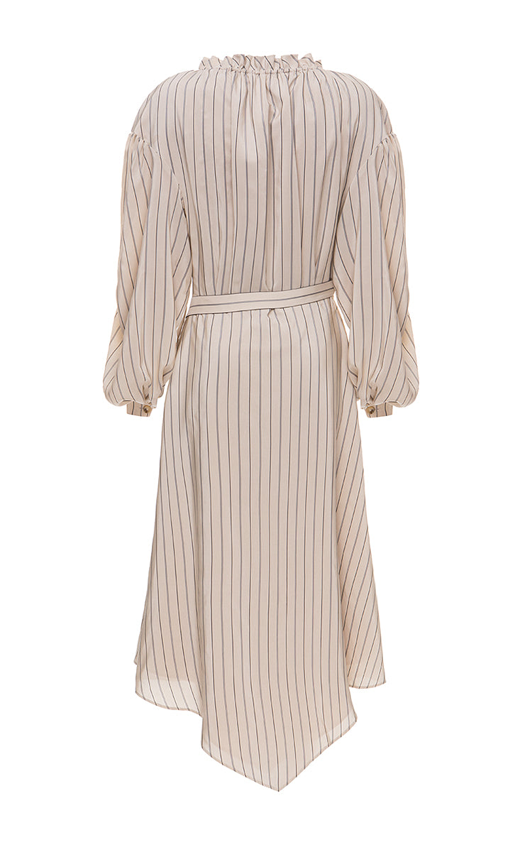 Asymmetric wrap dress