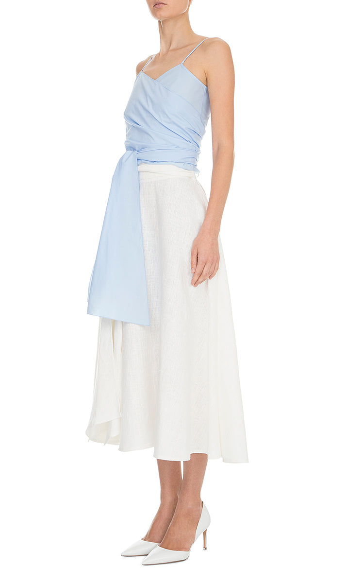 High Waisted Linen Skirt