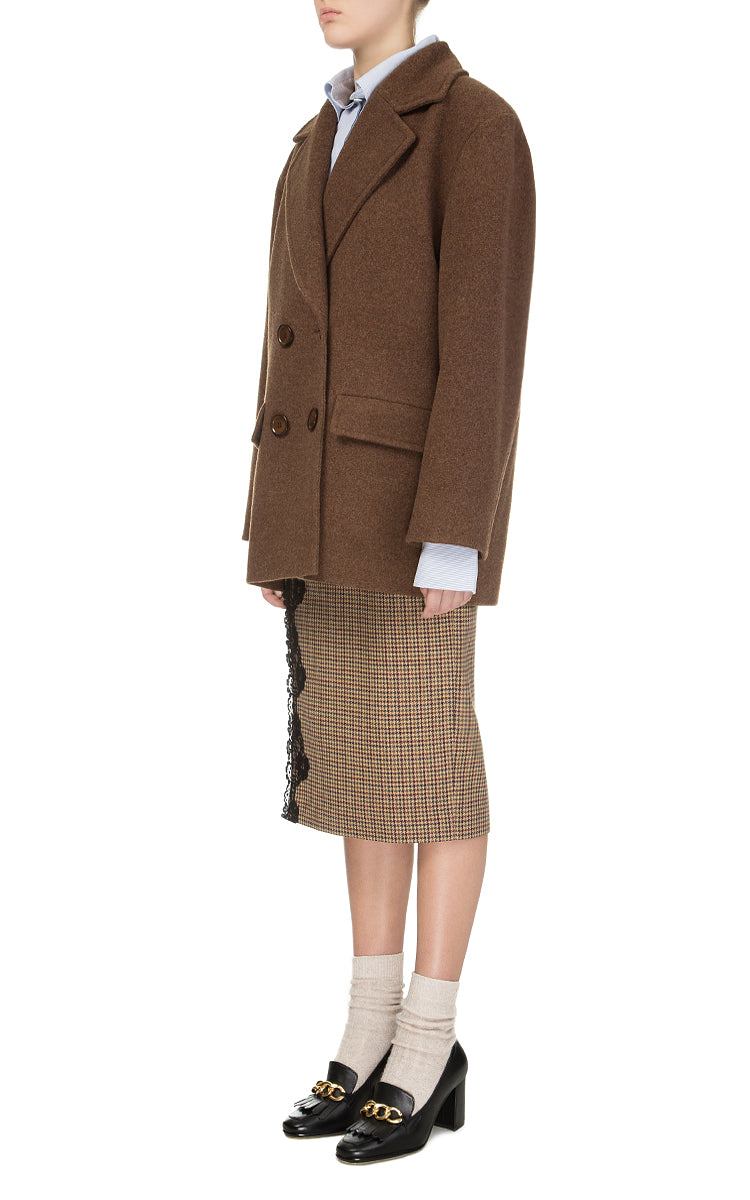 Brown Woolen Overcoat