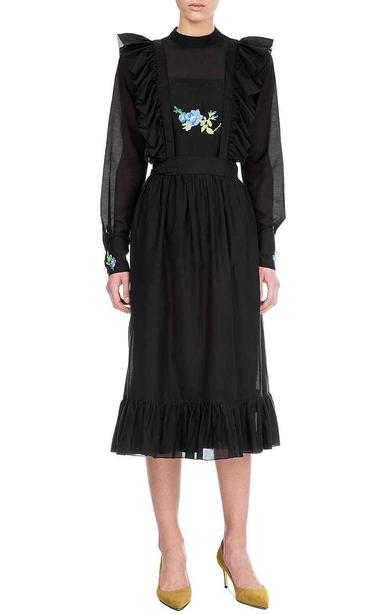 Ruffle Embroidered Dress
