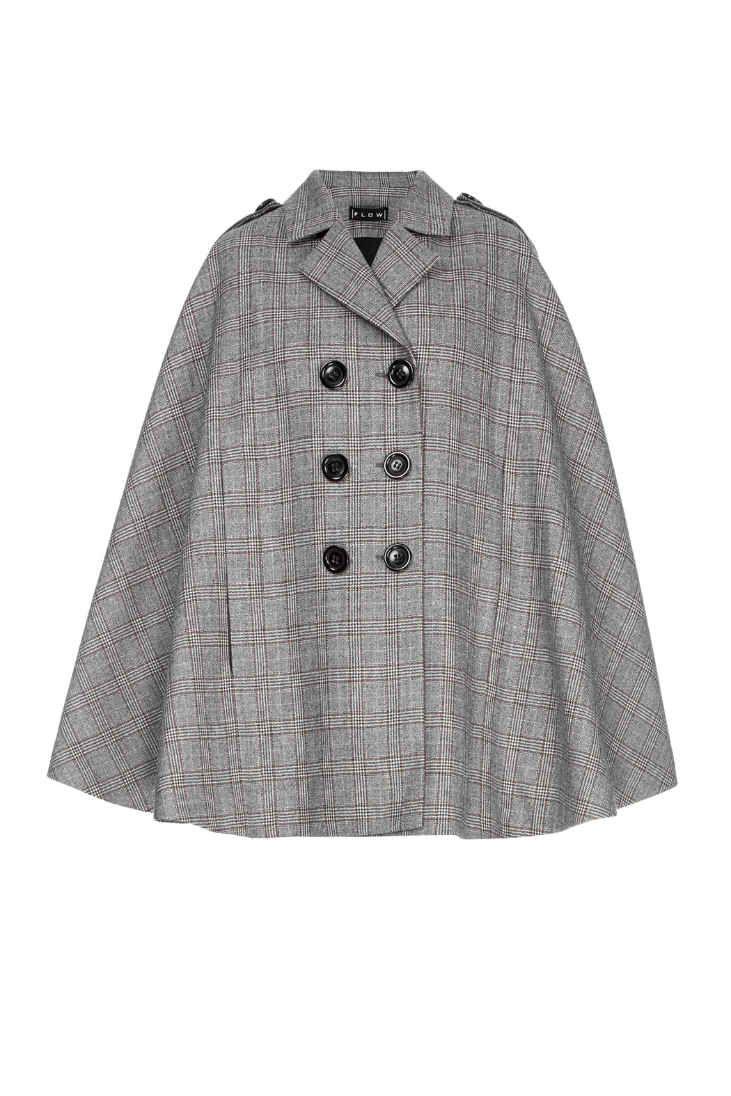 Wool Buttoned Cape
