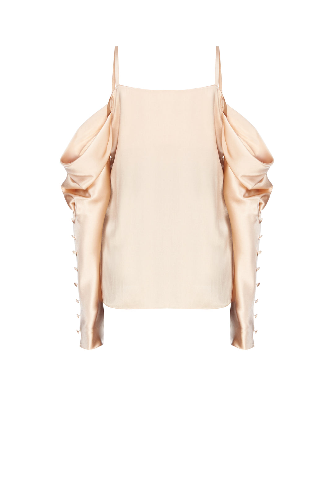 Silk Open-shoulder Blouse