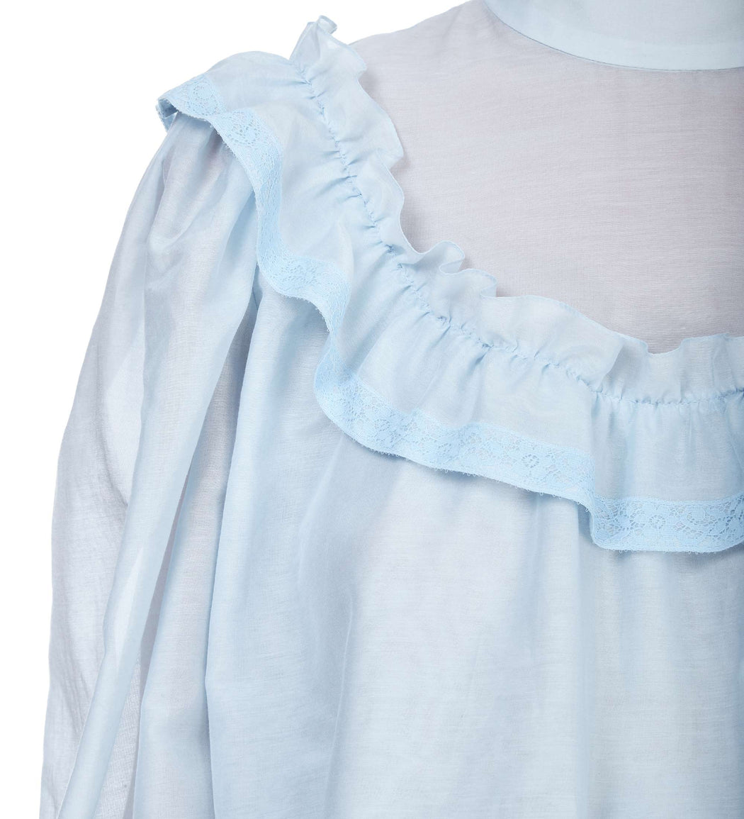 Batiste Ruffled Blouse