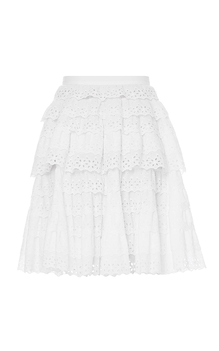 High-Waisted Ruffled Skirt