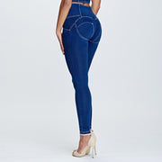 (WRUP2HF932-J0W) HIGH-WAIST SUPER SKINNY WR.UP® BLUE PANTS IN DENIM
