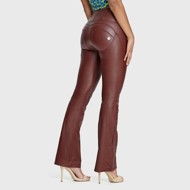 (WRUP11HF016-M33) 70S-STYLE MILLE-RAYÉ FAUX LEATHER WR.UP® SHAPING TROUSERS