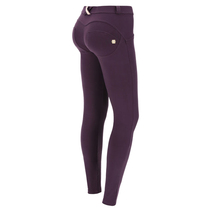 (WRUP1RC001-E41) WR.UP® SKINNY-FIT STRETCH COTTON PLUM PANTS