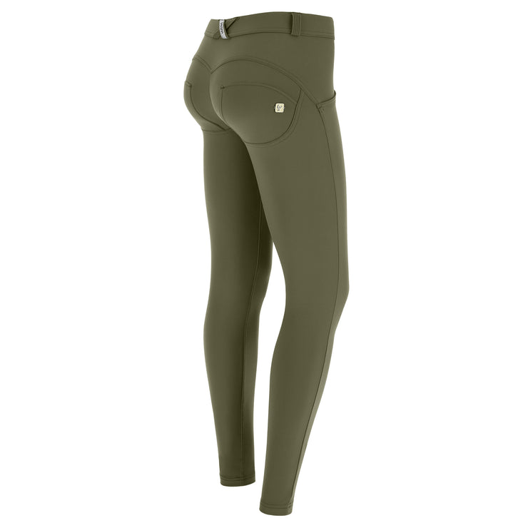 (WRUP1RC005-V112) WR.UP® SKINNY PUSH UP GREEN PANTS MADE IN ITALY IN D.I.W.O.® PRO