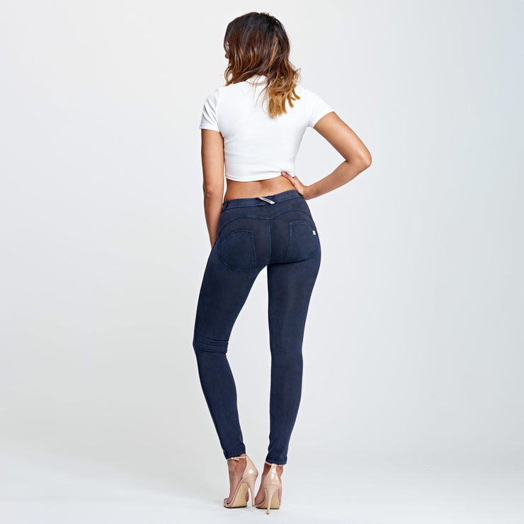 (WRUP1RF824-B94) WR.UP® REGULAR-RISE SKINNY-FIT BLUE PANTS WITH A DISTRESSED EFFECT