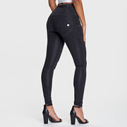 (WRUP2HF932-J7N) HIGH-WAIST SUPER SKINNY WR.UP® BLACK PANTS IN DENIM
