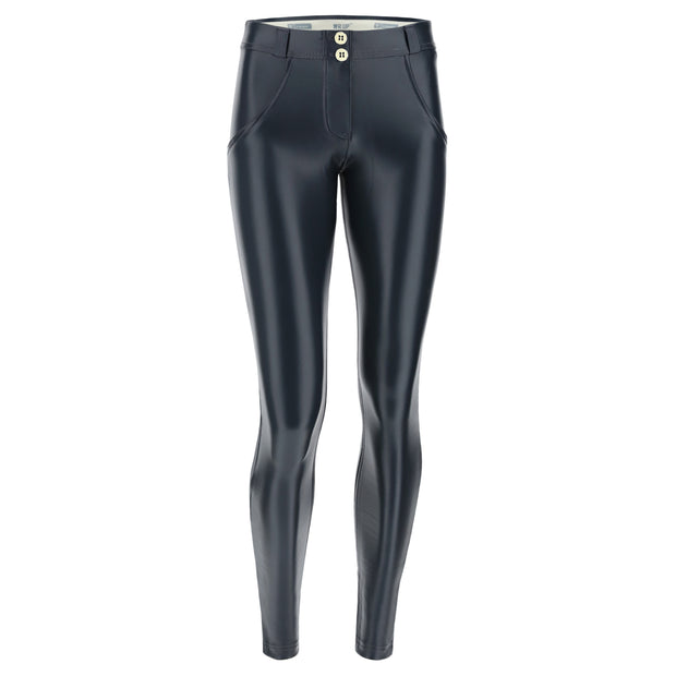 (WRUP2RS925-G108) METALLIC REGULAR-RISE WR.UP® SUPER-SKINNY PHANTOM GREY PANTS (ORDER A SIZE UP)