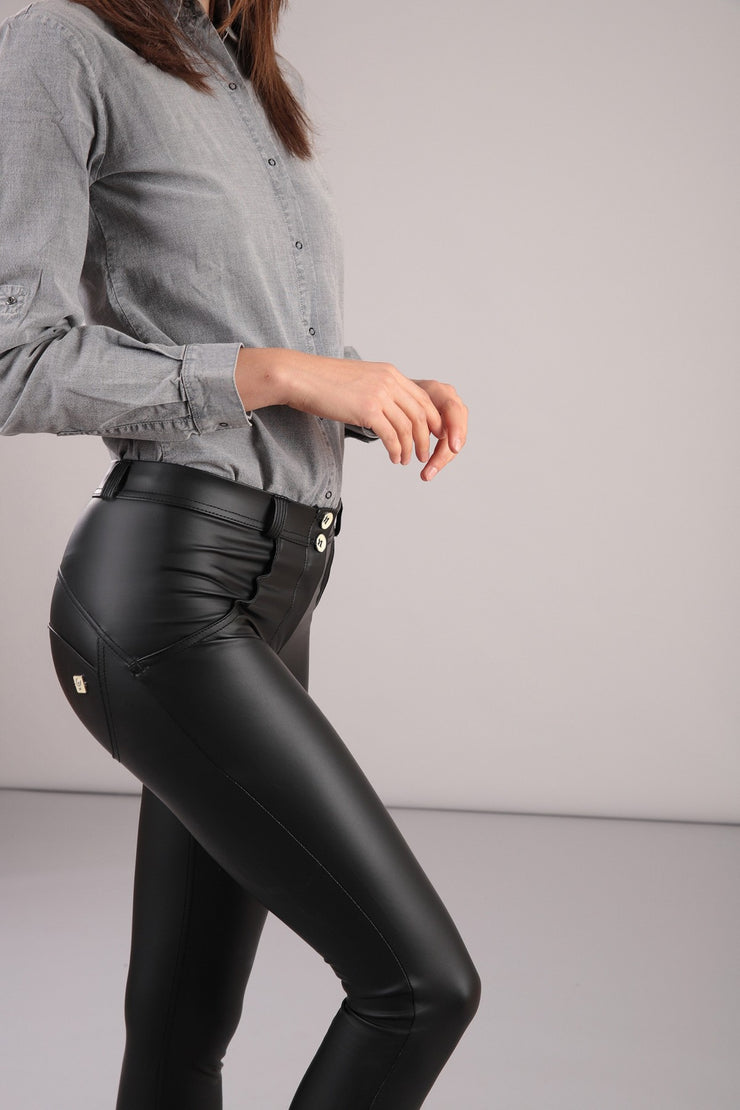 (WRUP1RC006-G108) WR.UP® REGULAR-RISE SKINNY-FIT PHANTOM PANTS IN FAUX LEATHER (ORDER A SIZE UP)