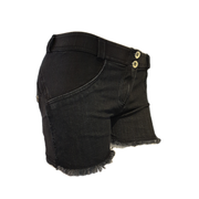 (WRUP9RS032-J7N)SHAPING WR.UP® SHORTS WITH A FRAYED HEM