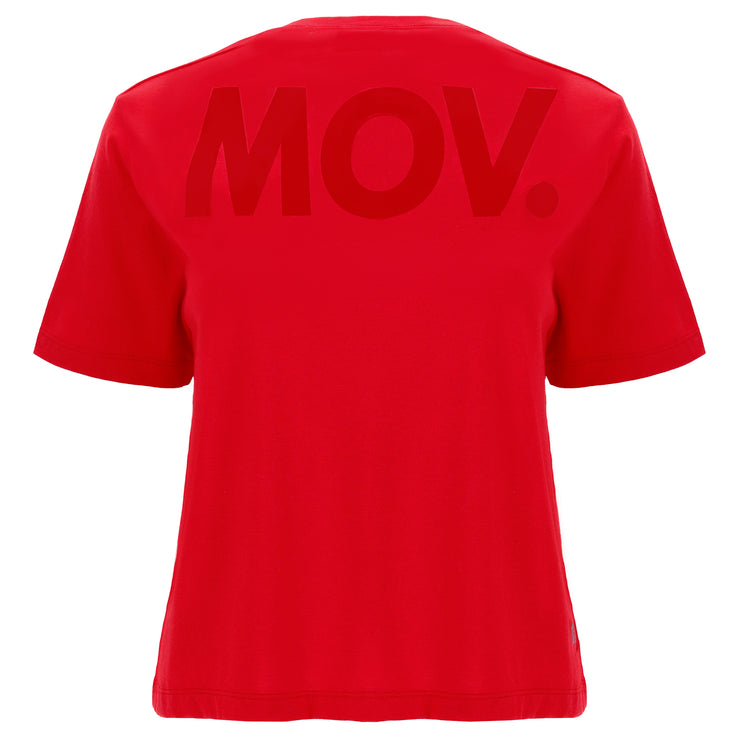 (IT_F0WFTT4_R106) Comfort-fit t-shirt with a maxi MOV. print on the back