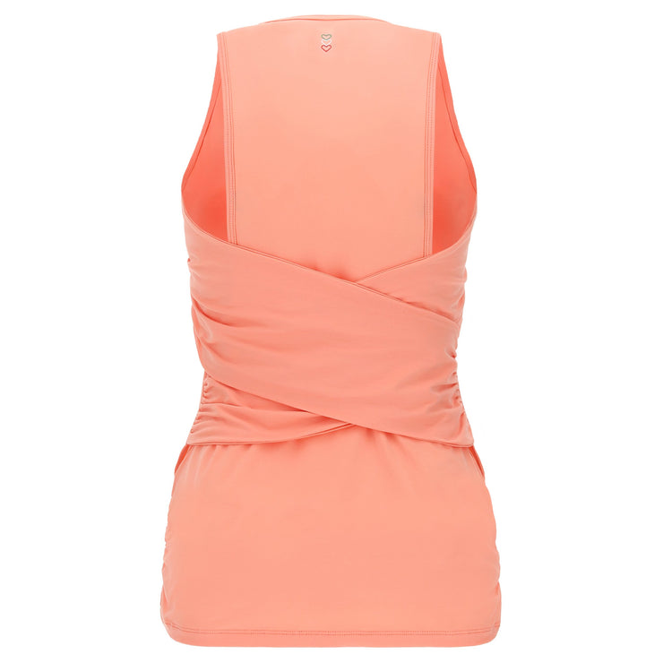 (IT_F0WMIK1_P111) Women's yoga tank top with a criss-cross back - 100% Made in Italy