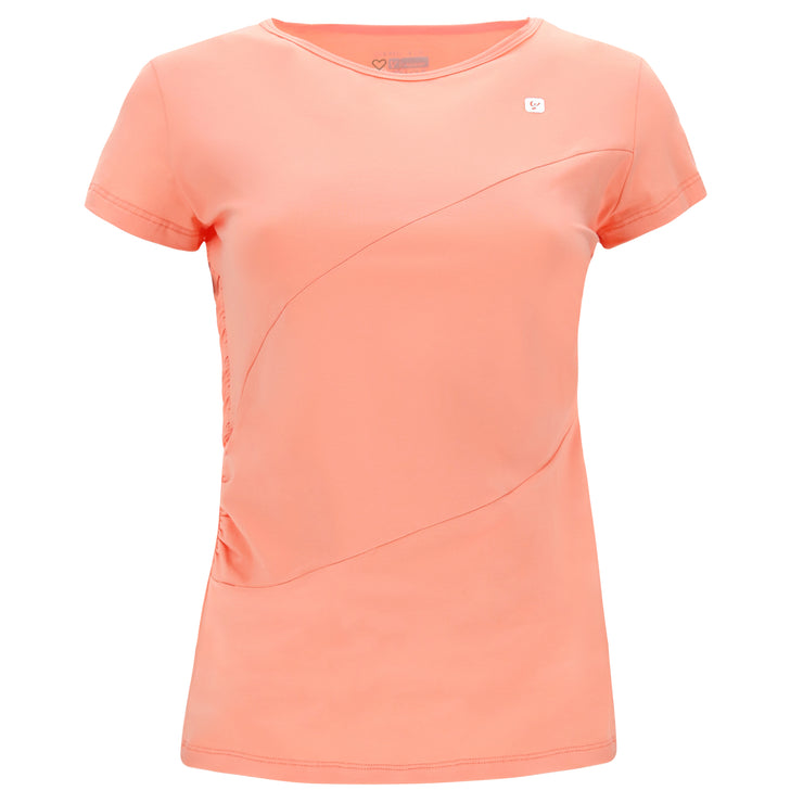 (IT_F0WMIT1_P111) Women's criss cross yoga t-shirt - 100% Made in Italy