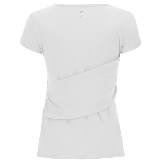 (IT_F0WMIT1_W) Women's criss cross yoga t-shirt - 100% Made in Italy