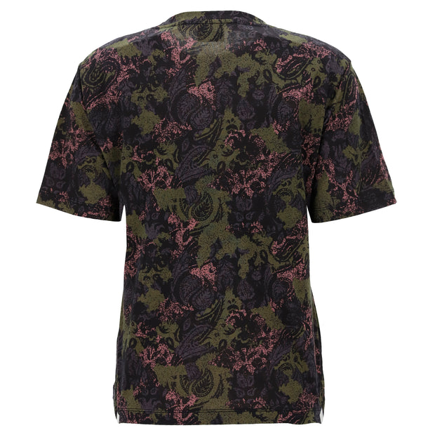 (IT_F0WSLT1C_NGVP) Short-sleeve t-shirt with a paisley-camouflage print
