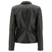 (F0WTWJ5-N)FAUX LEATHER BLAZER WITH A METALLIC FINISH
