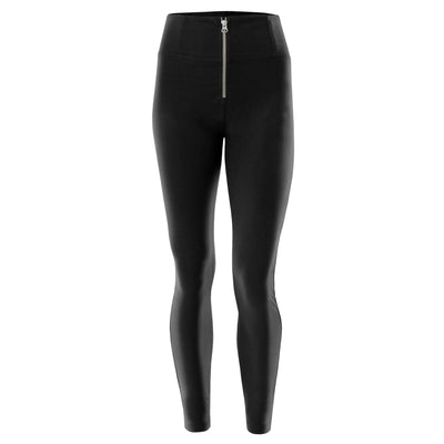 Freddy Black Pants In Stretch Cotton With High Waist And Skinny Fit
