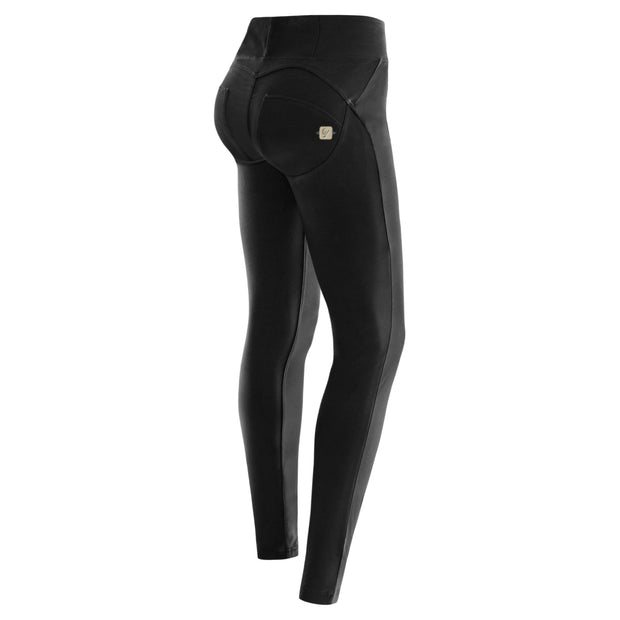 (WRUP1HC01E-N)WR.UP® BLACK PANTS IN STRETCH COTTON WITH HIGH WAIST AND SKINNY FIT