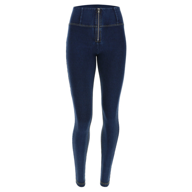 Freddy High-Waist Skinny-Fit Blue Pants In Stretch Denim