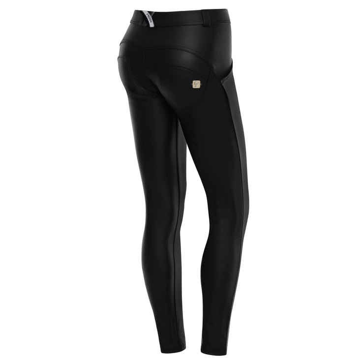 Freddy Wr.Up® Skinny Regular Waist Black Pants In Faux Leather
