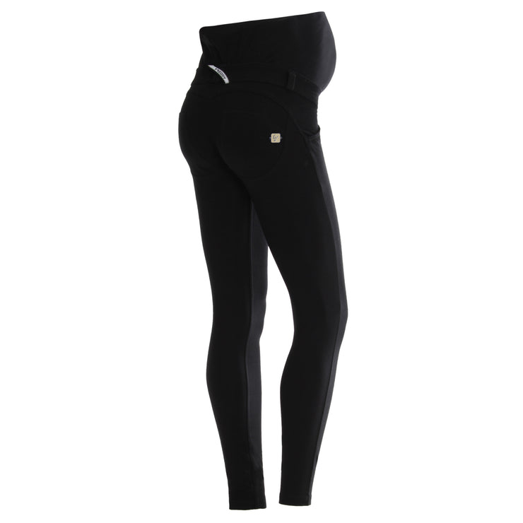 (WRM1LC01E-N) WR.UP® SKINNY HIGH WAIST BLACK PANTS IN COTTON – MATERNITY CAPSULE COLLECTION