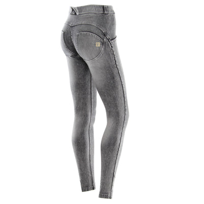 (WRUP1RJ14E-J20G) WR.UP® SKINNY REGULAR WAIST GREY PANTS IN BLEACHED LIGHT DENIM